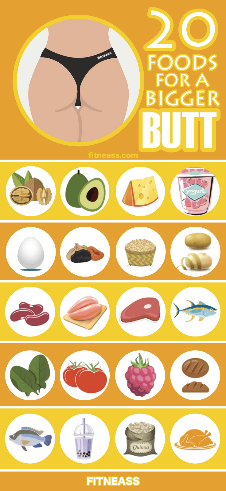 20 Foods For A Bigger Butt