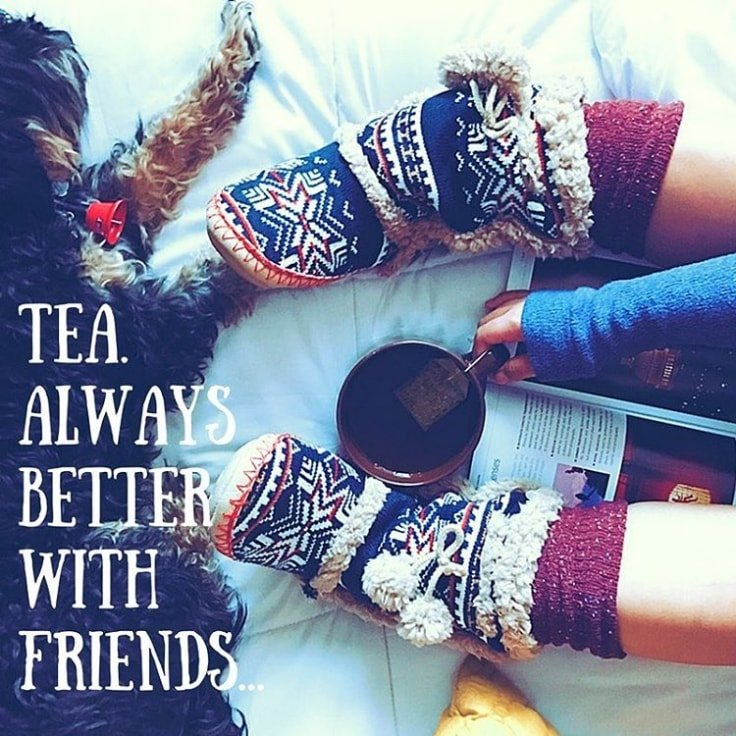 Drinking Tea With Friends
