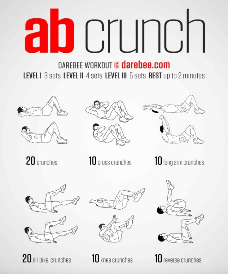 Multiple Crunches Workout