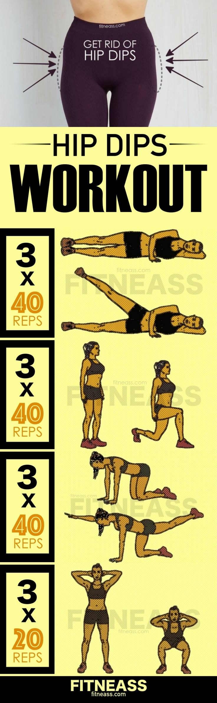 Workout To Reduce Hip Dips