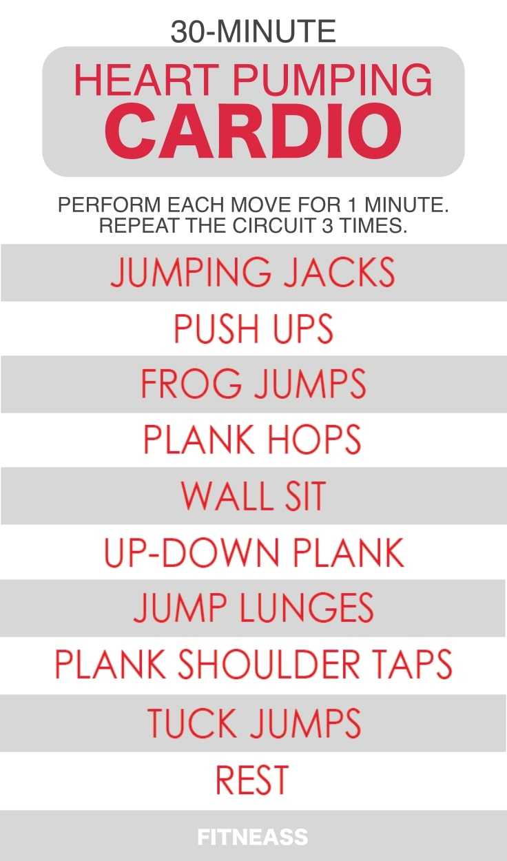 30-Minute Heart Pumping Cardio Workout