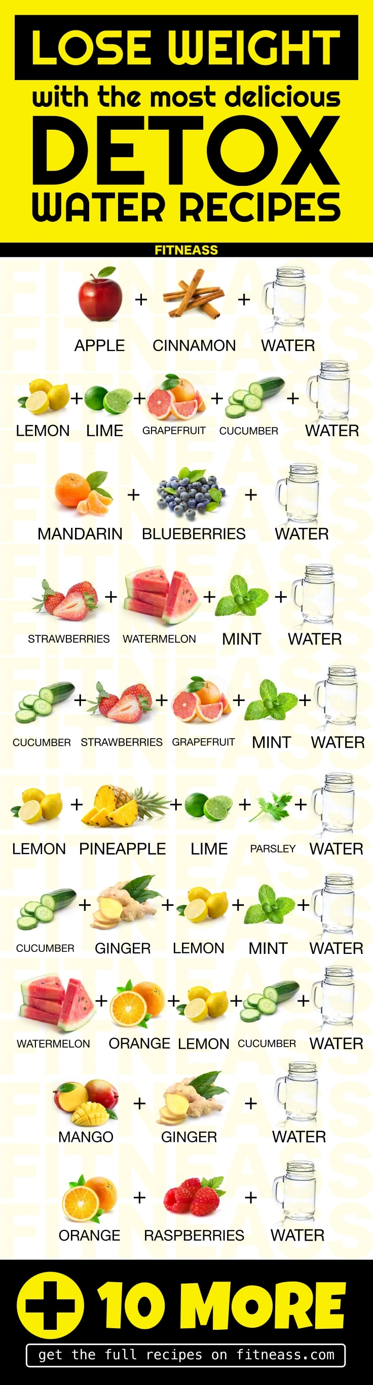 20 Detox Water Recipes Infographic