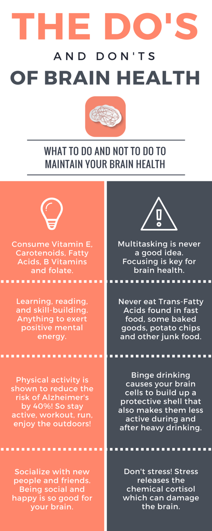 The Dos And Donts Of Brain Health Infographic