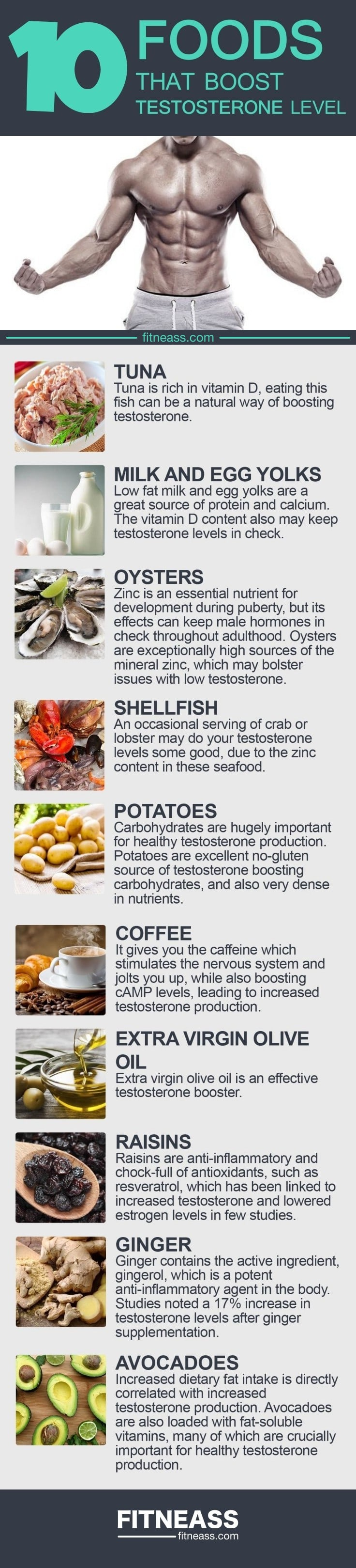 10 Foods That Boost Testosterone Level