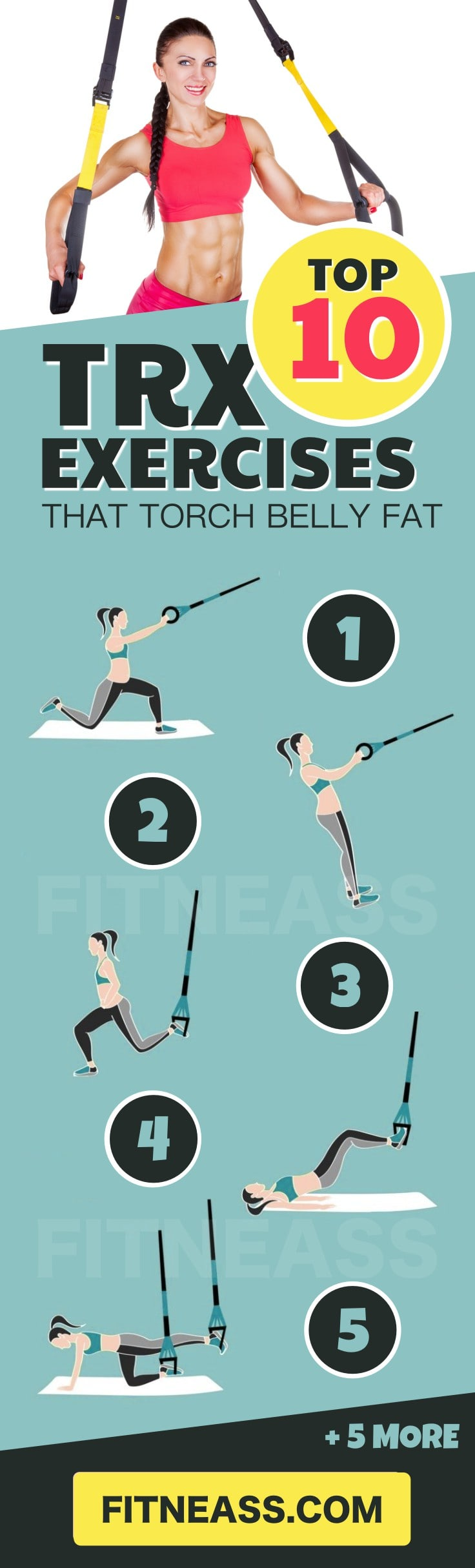 Top 10 TRX Exercises That Torch Belly Fat