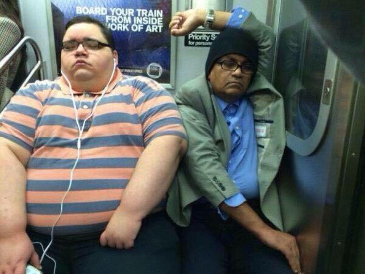 Overweight Person In Public Transportation
