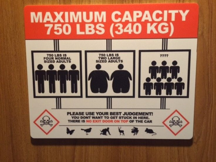 The Elevator Can Be An Enemy For Overweight People