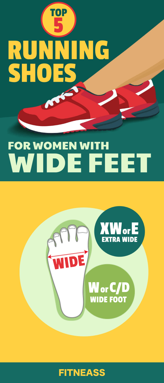 Top 5 Wide Width Shoes For Women - Infographic