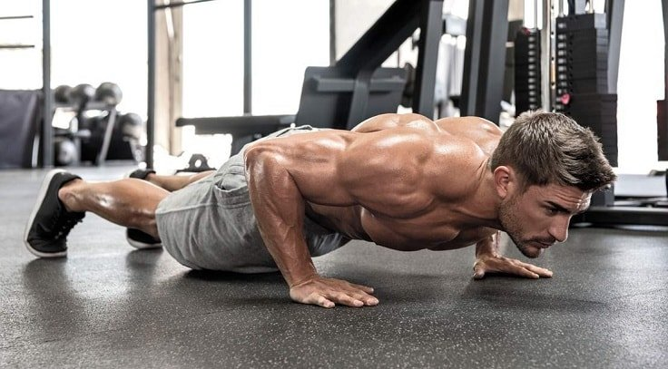 Barbell Bench Press - Push-Ups