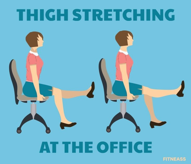 Office Health Tips - Thigh Stretching