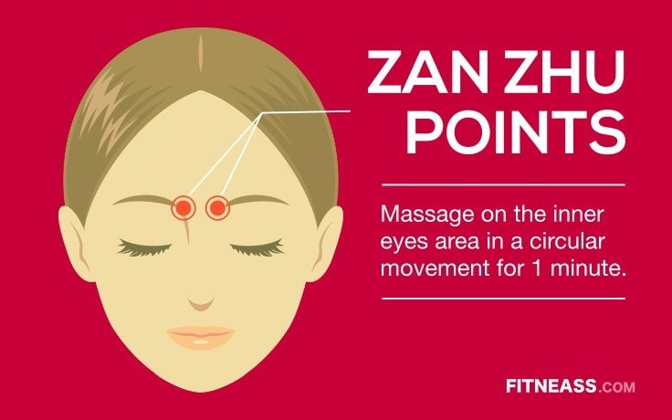 Acupressure Points To Get Rid Of Painful Migraines - Zan Zhu