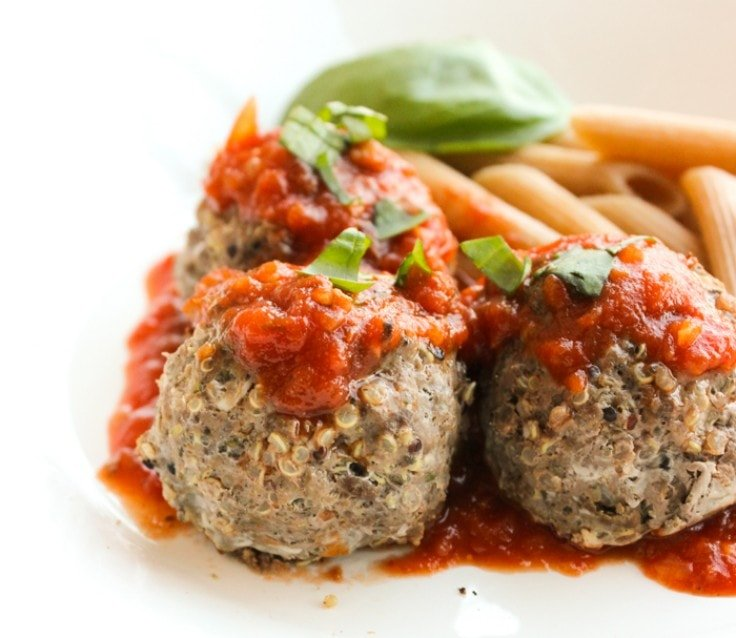 Meatballs with quinoa