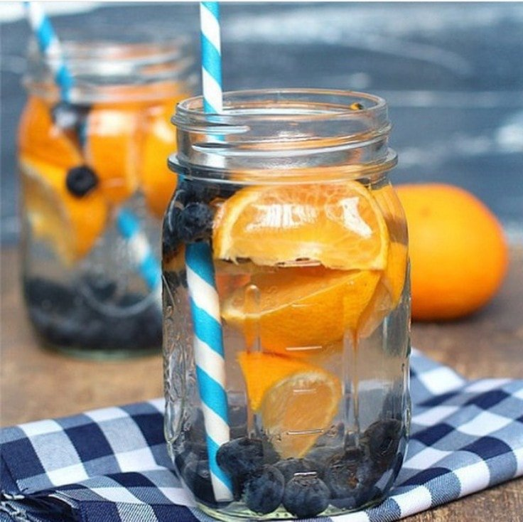 Detox Water Recipes - Blueberry and Mandarin
