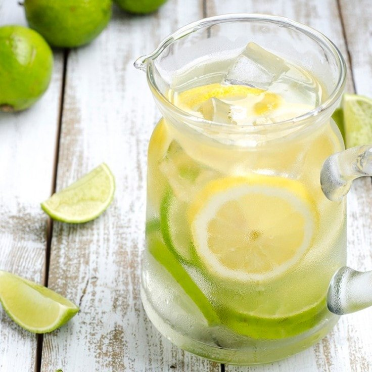Detox Water Recipes - Lemon and Lime