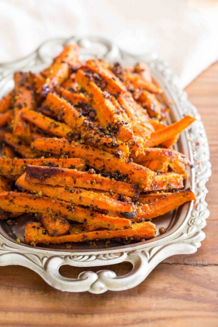Healthy French Fries Recipes - Pesto Roasted Carrot Fries
