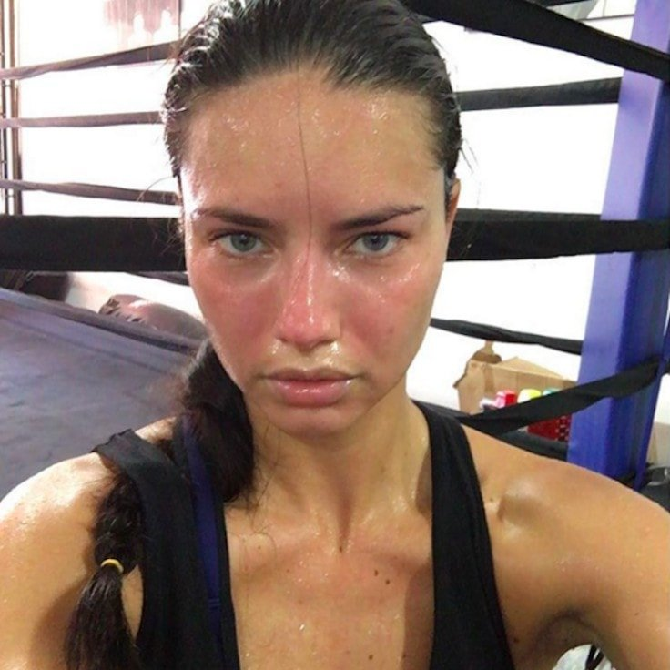 Adriana Lima Sweaty After Workout