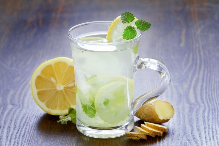 Best Diet Drinks - Ginger And Lemon Water