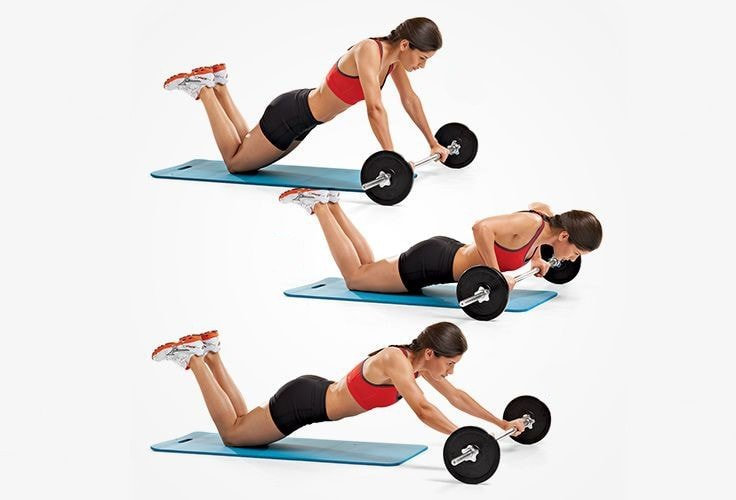 Best Core Exercises - Barbell Roll-Ups