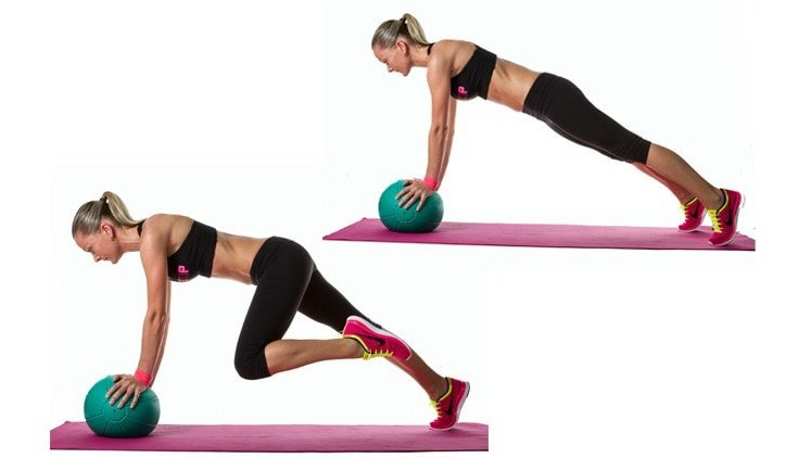 Best Core Exercises - Medicine Ball Mountain Climber