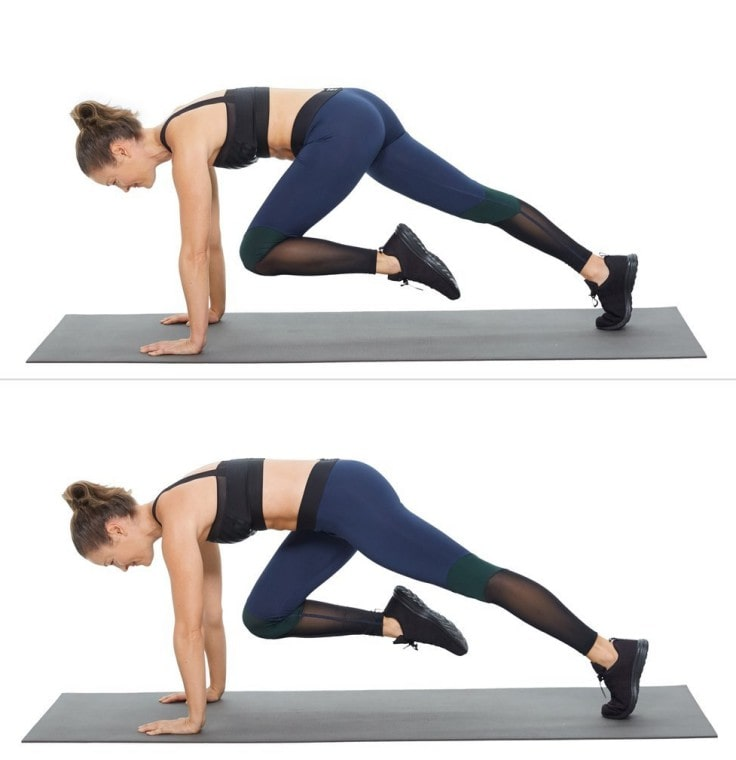 Full Body Workouts On A Mat - Mountain Climbers