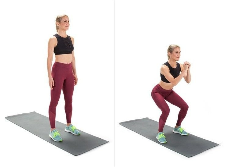 Full Body Workouts On A Mat - Squat