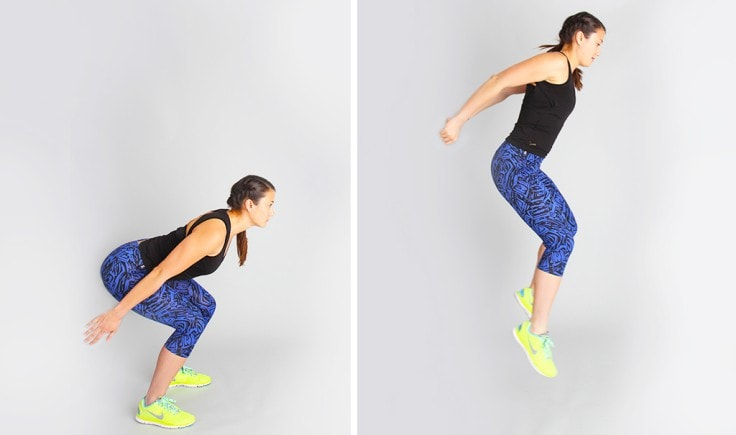 Intense Fat Burning Workouts - Broad Jumps