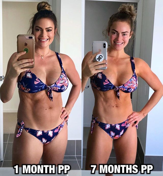 Emily Skye Post Partum Transformation