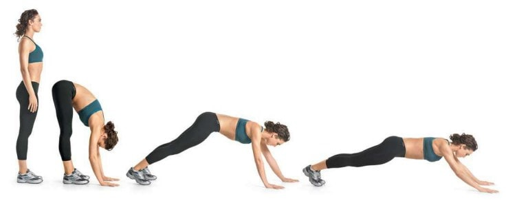Good Ab Workouts - Inchworm To Plank