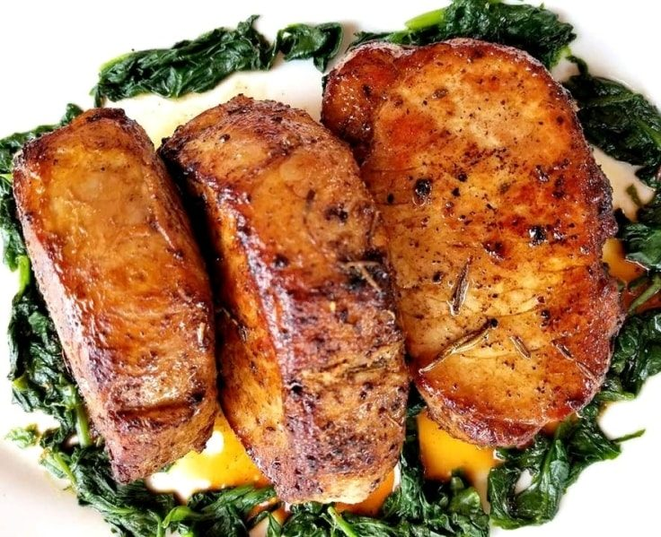 Simple Keto Meals - Garlic-Rosemary Pork Chops