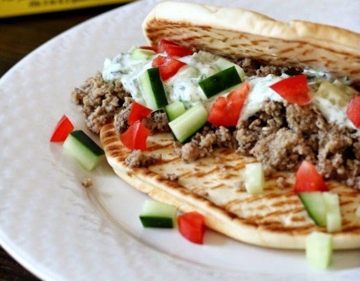 Greek Turkey Pitas
