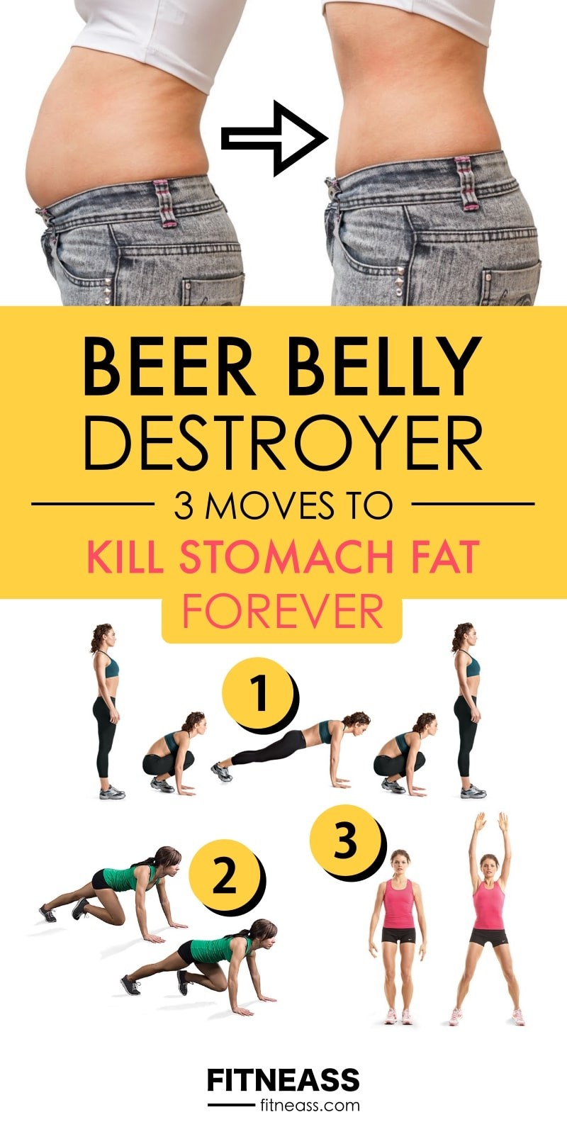 3-Move Workout To Get Rid Of Beer Belly