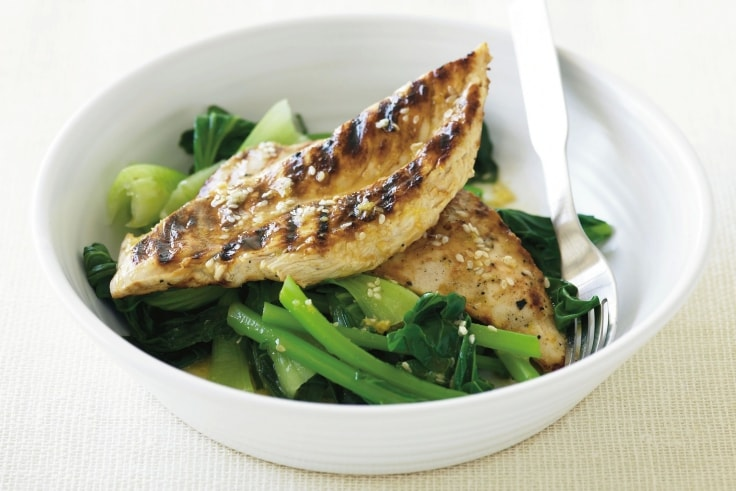 Grilled Vegetable Recipes - Grilled Chicken And Greens