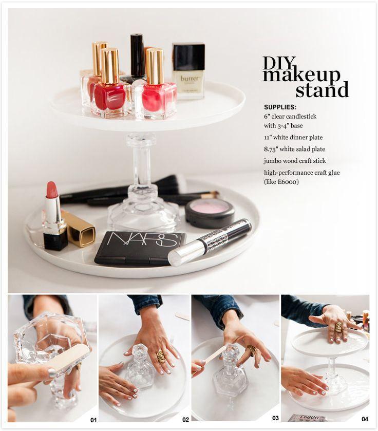 Cake Stand Makeup Organizer