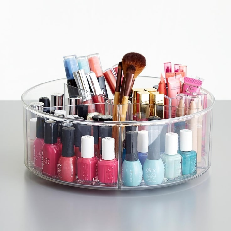 Lazy Susan Rotating Rack For Makeup Organizing