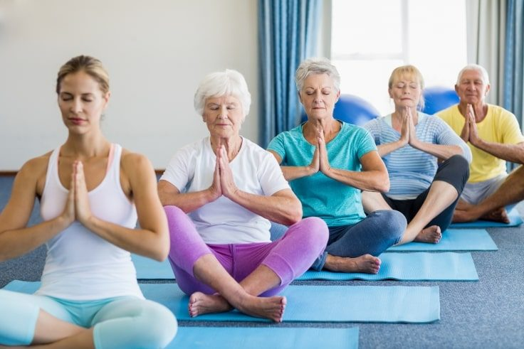 Healthy Hobbies For Seniors - Light Yoga