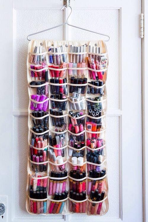 Makeup Organizer Ideas - Shoe Organizer