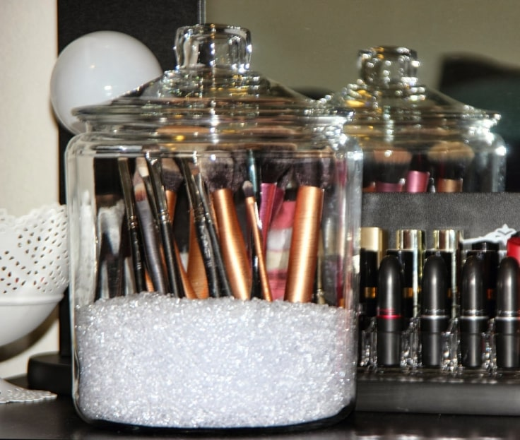 Makeup Organizer Tips - Cookie Jars