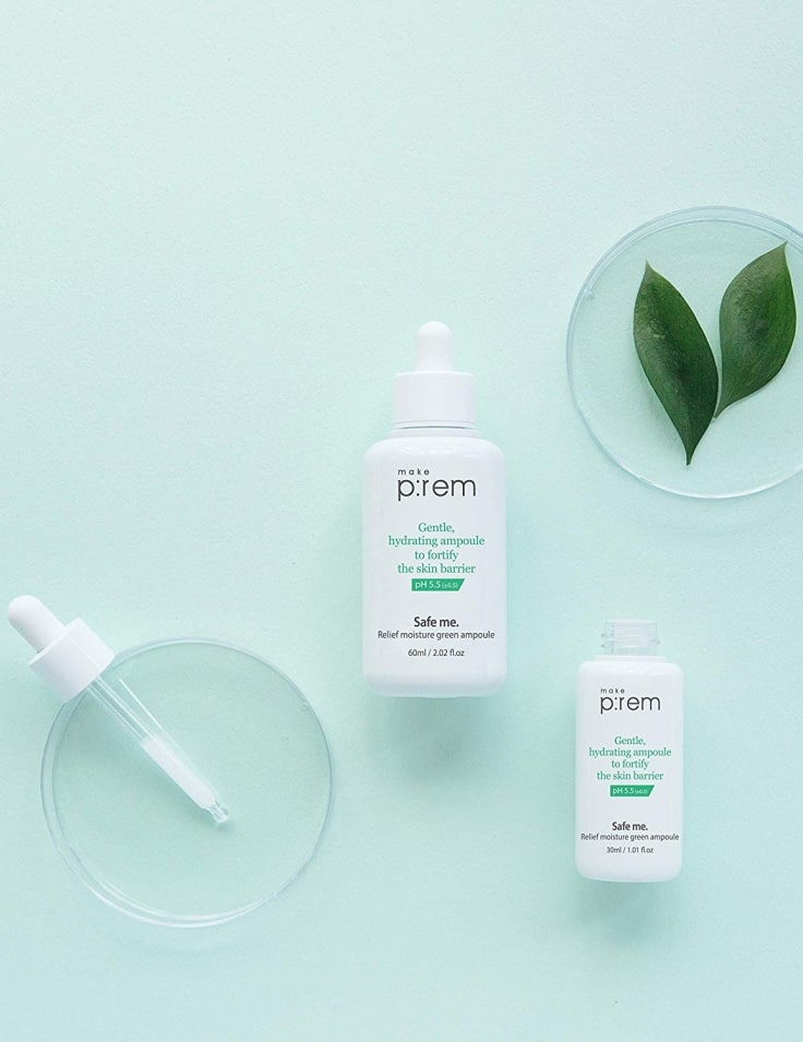 Make P-rem Safe Me Relief Moisture Green Ampoule