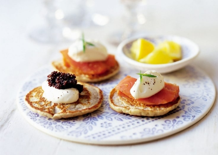 Romantic Dinner Ideas - Blinis with Smoked Salmon and Caviar
