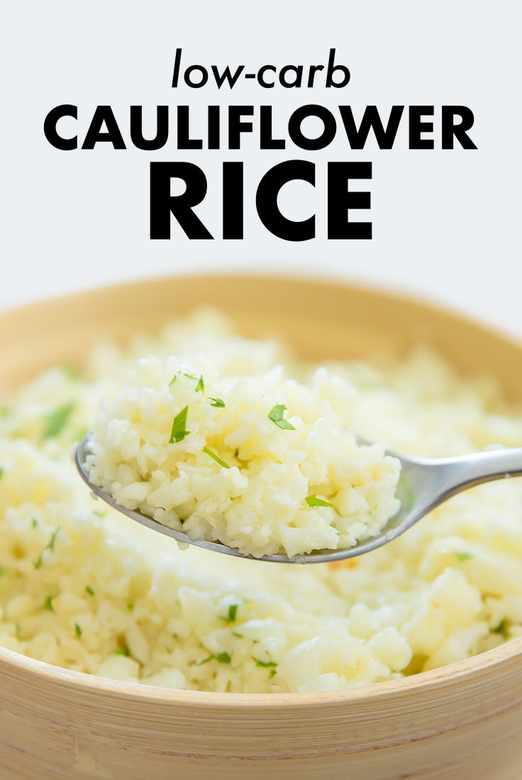 Garlic Parmesan Cauliflower Rice Low Carb Recipe
