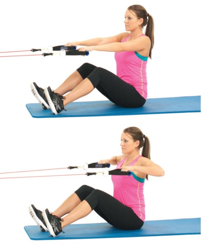 Seated Rows With Resistance Band