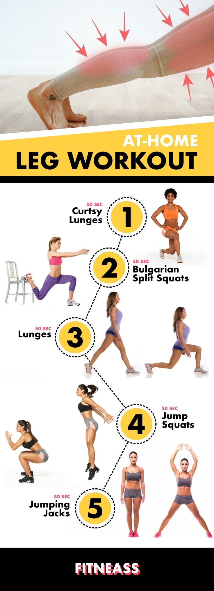 Top At-Home Leg Workouts Infographic