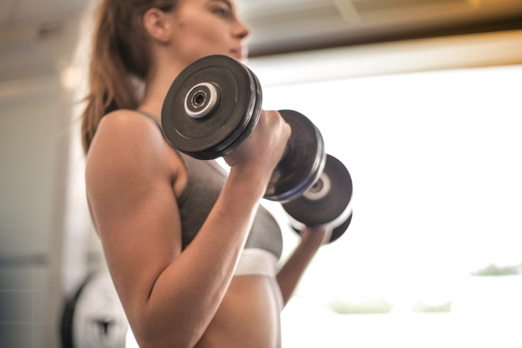 Lift Weights To Stay Fit While Working From Home