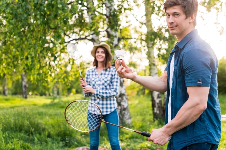 Playing Badminton With Your Partner
