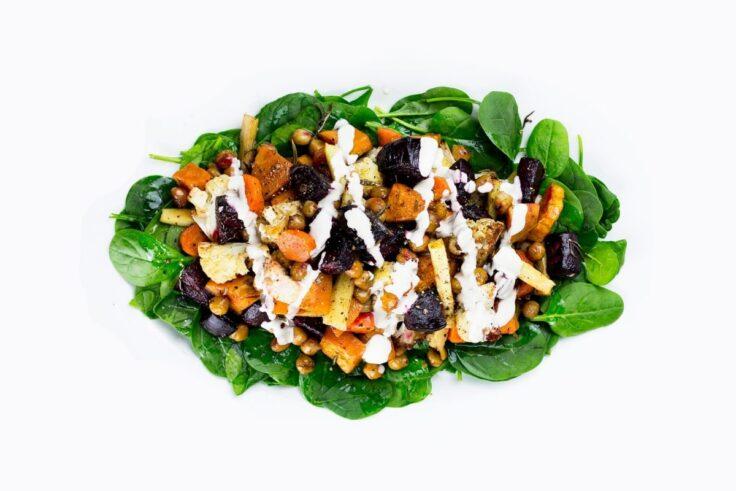 Roasted Veggie Salad With Tahini Sauce
